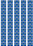 Cambridgeshire Flag Stickers - 65 per sheet